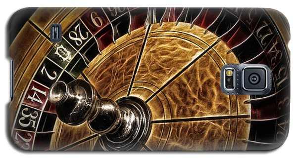 Galaxy S5 Case featuring the photograph A Virginia City Roulette Wheel by Brad Allen Fine Art