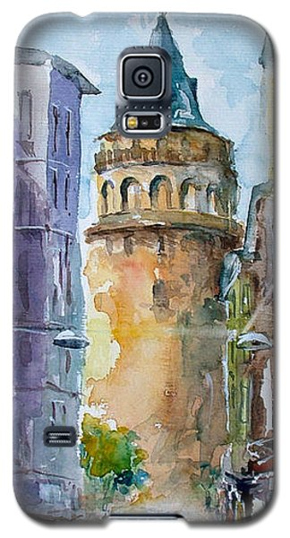 A Walk Around Galata Tower - Istanbul Galaxy S5 Case by Faruk Koksal