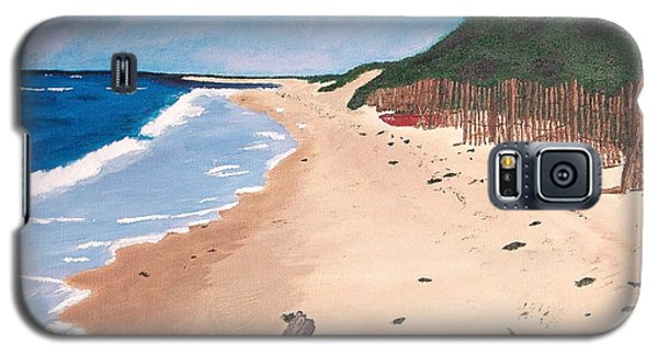 Galaxy S5 Case featuring the painting A Walk In Nantucket by Cynthia Morgan