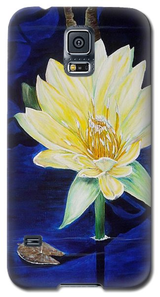 Galaxy S5 Case featuring the painting A Waterlily by Marilyn  McNish