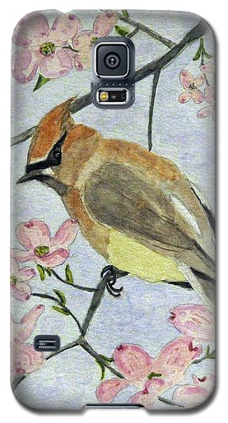 A Waxwing In The Dogwood Galaxy S5 Case