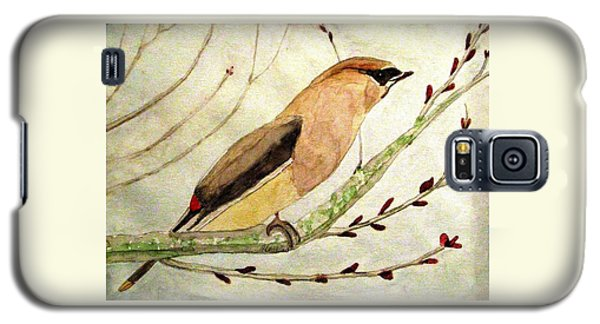 A Waxwing In The Orchard Galaxy S5 Case by Angela Davies