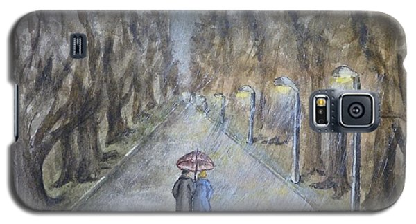 A Wet Evening Stroll Galaxy S5 Case by Kelly Mills