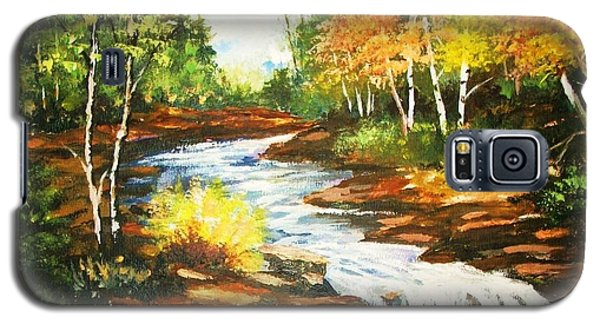 Galaxy S5 Case featuring the painting A Winding Creekbed by Al Brown