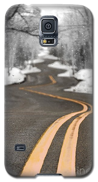 Galaxy S5 Case featuring the photograph A Winter Drive Over A Winding Road by Mark David Zahn