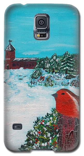 Galaxy S5 Case featuring the painting A Winter Scene by Martin Blakeley