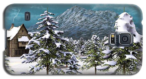 Galaxy S5 Case featuring the digital art A Winter Scene... by Tim Fillingim