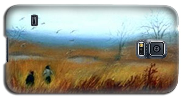 Galaxy S5 Case featuring the painting A Winter Walk by Gail Kirtz