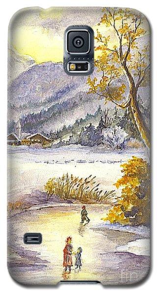 Galaxy S5 Case featuring the painting A Winter Wonderland Part 2 by Carol Wisniewski