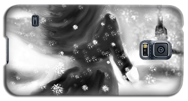 Galaxy S5 Case featuring the drawing A Winters Walk by Lori  Lovetere