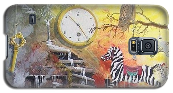 Galaxy S5 Case featuring the painting A Wonderland Scene by Jackie Mueller-Jones