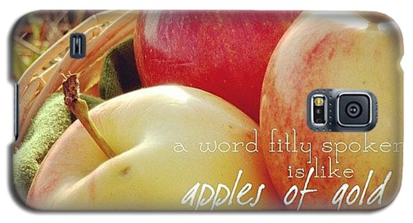 a Word Fitly Spoken Is Like Apples Of Galaxy S5 Case by Traci Beeson
