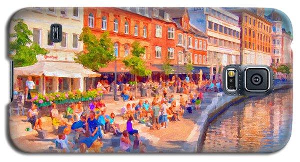 Aarhus Canal Digital Painting Galaxy S5 Case by Antony McAulay