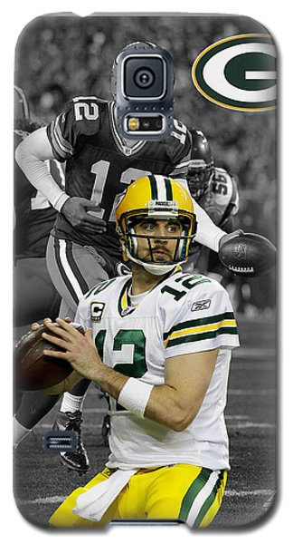 Aaron Rodgers Packers Galaxy S5 Case by Joe Hamilton