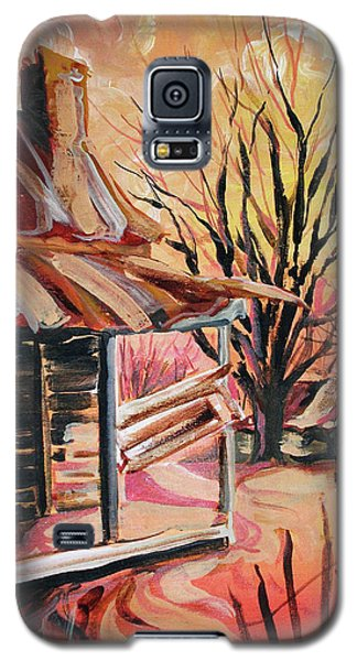 Galaxy S5 Case featuring the painting Abandoned Farm by Lizi Beard-Ward