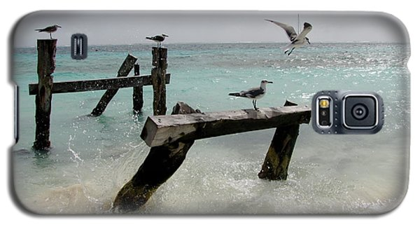 Galaxy S5 Case featuring the photograph Abandoned Pier by Sean Griffin