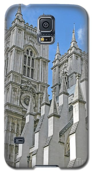 Galaxy S5 Case featuring the photograph Abbey Towers by Ann Horn
