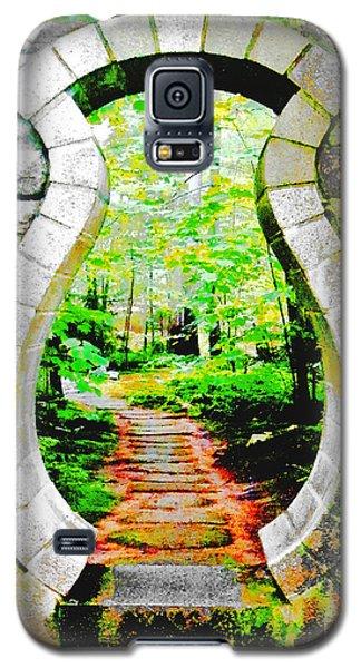 Galaxy S5 Case featuring the digital art Abby Aldrich Rockefeller Garden Portal by Lizi Beard-Ward