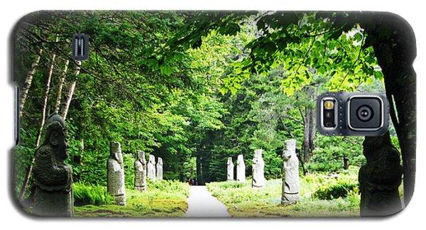 Galaxy S5 Case featuring the photograph Abby Aldrich Rockefeller Path Statuary by Lizi Beard-Ward