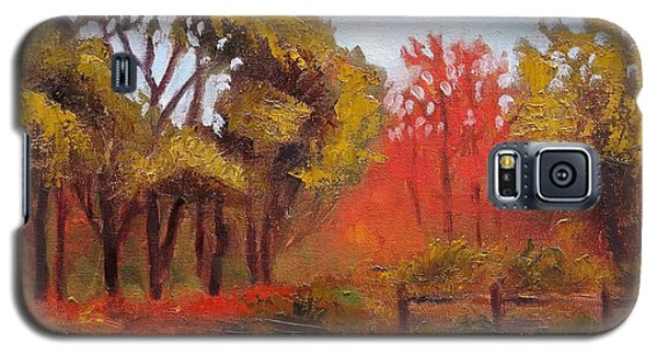 Galaxy S5 Case featuring the painting Abeel Fields by Jason Williamson