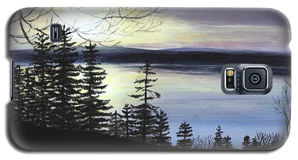 Galaxy S5 Case featuring the painting Aberdeen Sunrise by Jesslyn Fraser
