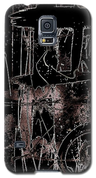 Galaxy S5 Case featuring the painting Abidjan by Cleaster Cotton
