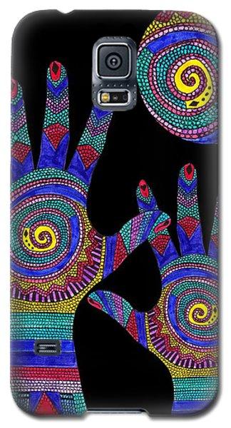 Aboriginal Hands To The Sun Galaxy S5 Case