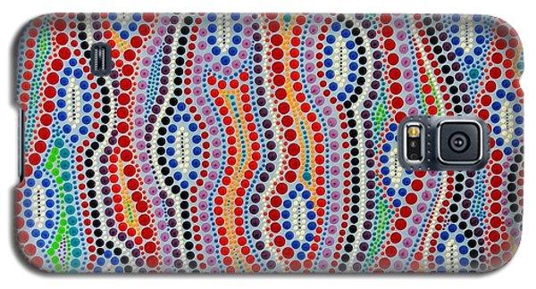 Galaxy S5 Case featuring the painting Aboriginal Inspirations 2 by Mariusz Czajkowski