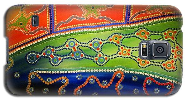 Galaxy S5 Case featuring the painting Aboriginal Inspirations 7 by Mariusz Czajkowski