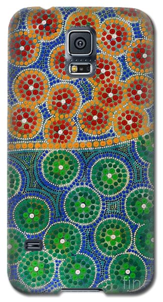 Galaxy S5 Case featuring the painting Aboryginal Inspirations 3 by Mariusz Czajkowski