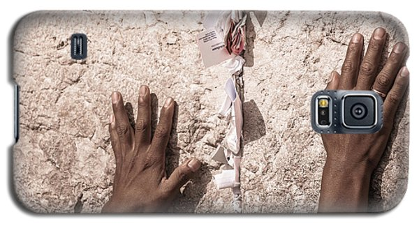 Galaxy S5 Case featuring the photograph About The Western Wall by Sergey Simanovsky