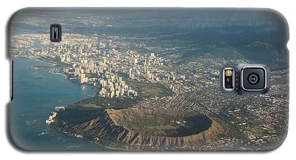 Galaxy S5 Case featuring the photograph Above Hawaii by Georgia Mizuleva