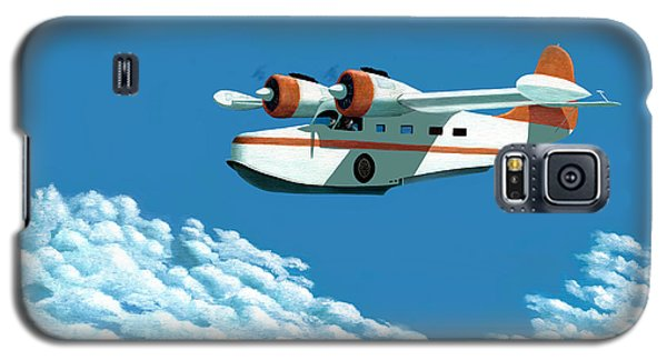 Galaxy S5 Case featuring the painting Above It All  The Grumman Goose by Gary Giacomelli