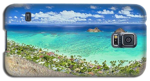 Galaxy S5 Case featuring the photograph Above Lanikai Beach by Aloha Art