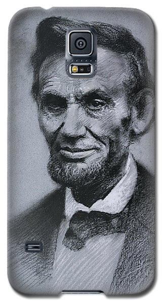 Galaxy S5 Case featuring the drawing Abraham Lincoln by Viola El