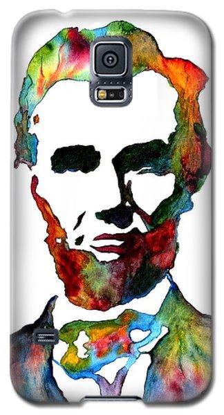 Abraham Lincoln Original Watercolor  Galaxy S5 Case by Georgeta  Blanaru