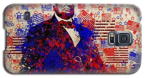 Abraham Lincoln With Flags Galaxy S5 Case