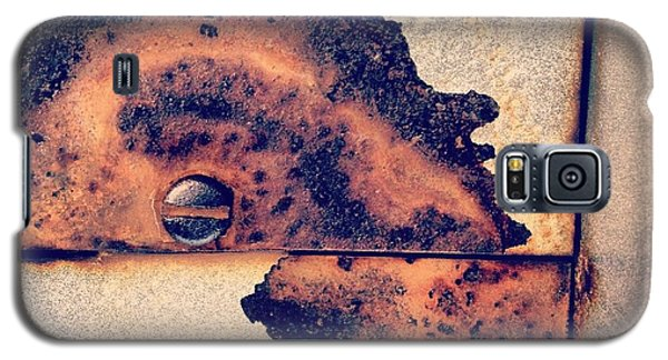 Orange Galaxy S5 Case - Absract Rust by Christy Beckwith