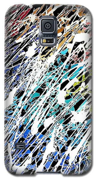 Galaxy S5 Case featuring the painting Abstract 1 by Shabnam Nassir