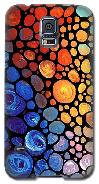 Abstract 1 - Colorful Mosaic Art - Sharon Cummings Galaxy S5 Case