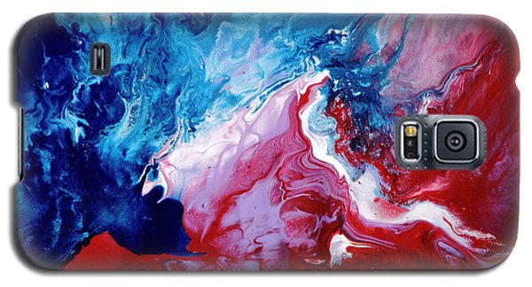 Abstract Art Blue Red White By Kredart Galaxy S5 Case