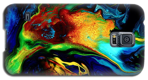 Abstract Art Modern Colorful Fluid Painting Bird Of Paradise By Kredart Galaxy S5 Case