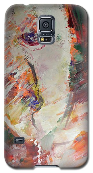 Galaxy S5 Case featuring the painting Abstract Autumn Leaves by John Fish