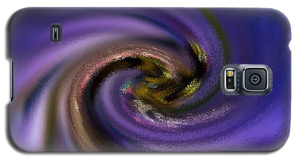 Abstract Bee On Chicory Galaxy S5 Case by Haren Images- Kriss Haren