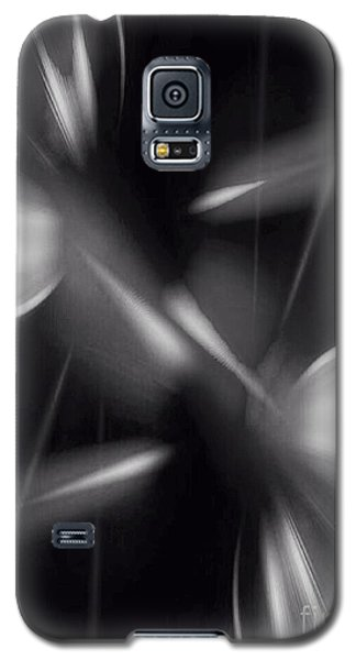 Galaxy S5 Case featuring the digital art Abstract Black And White by Gayle Price Thomas