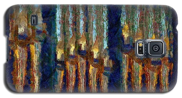 Abstract Blue And Gold Organ Pipes Galaxy S5 Case