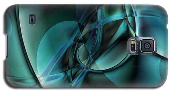 Abstract Blue Galaxy S5 Case