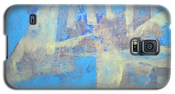 Galaxy S5 Case featuring the painting Abstract Blue Landscape by John Fish