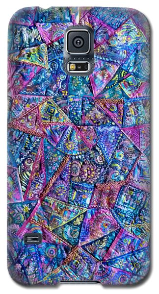 Abstract Blue Rose Quilt Galaxy S5 Case