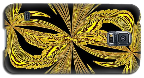 Abstract Botanical Gold Galaxy S5 Case by Margaret Newcomb